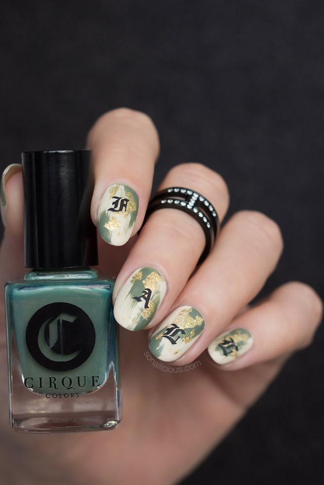 fall nail art cirque colors Central Park After Dark