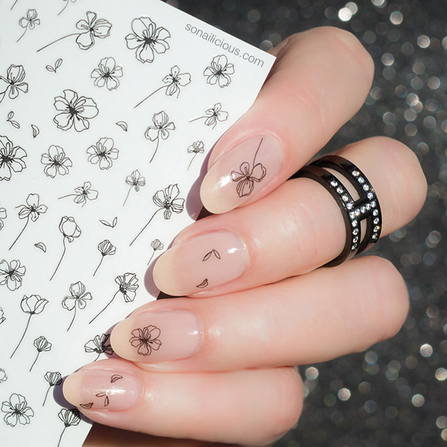 minimalist nail art with sonailicious stickers