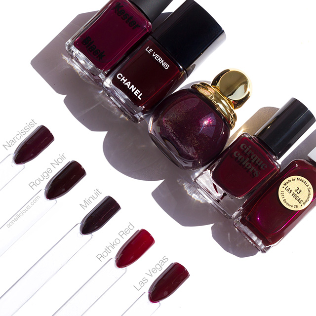 the best dark red nail polishes