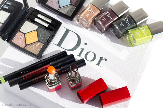 dior fall 2019 makeup, lipsticks and nail polish