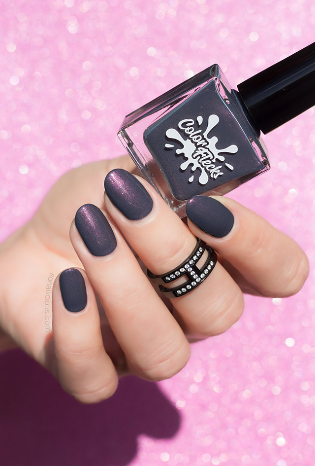 autumn nail colour colorflecks dark fog