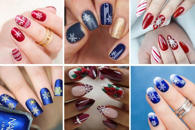 14 snowflake nail designs