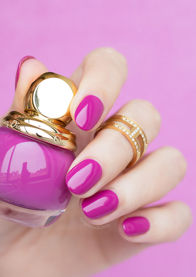 Dior 677 dream diorific purple nail polish