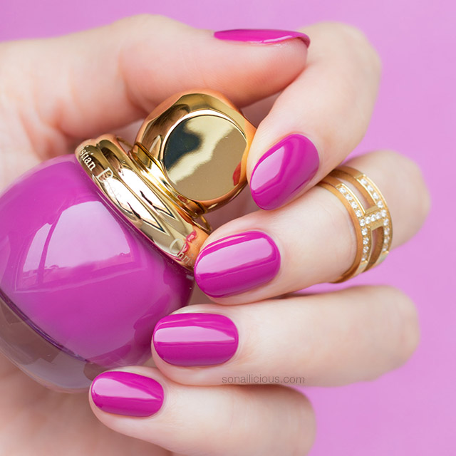 Dior 677 dream diorific vernis purple nails