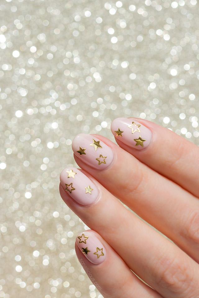 gold star nails party nails