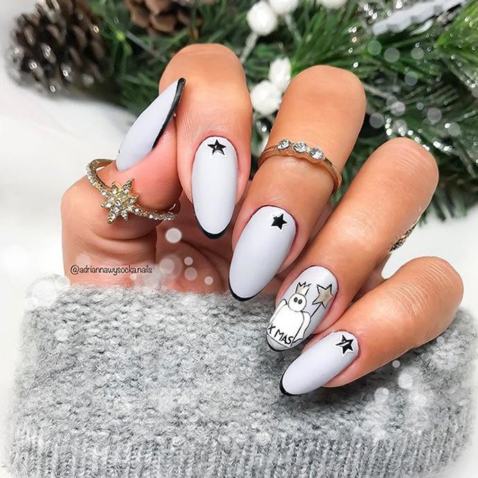 modern Christmas nails