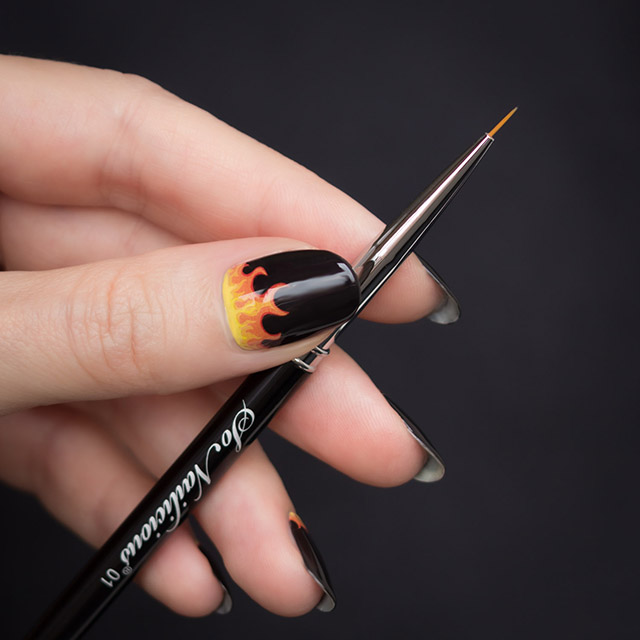 best nail art brush, sonailicius brush, fire nails